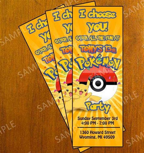 pokemon invitation invitation printable free