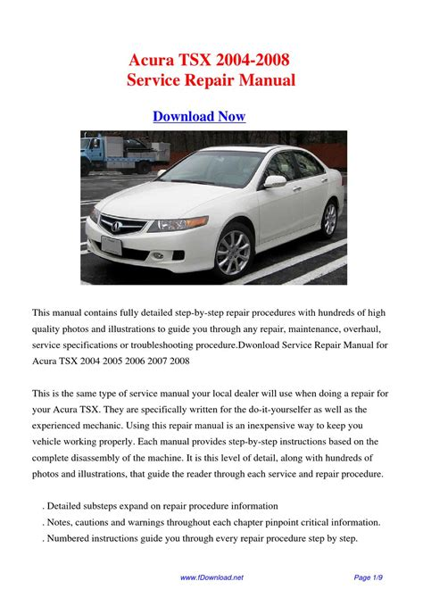 download car manuals pdf free 2010 acura tsx windshield wipe control online repair manual for a 2004 acura tsx repair manual pdf acura tsx factory service repair