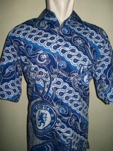 Harga Baju Gamis Merk Arniz kemeja batik bola chelsea motif terbaru baju batik bola