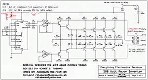 Circuit Diagram  500w Inverter