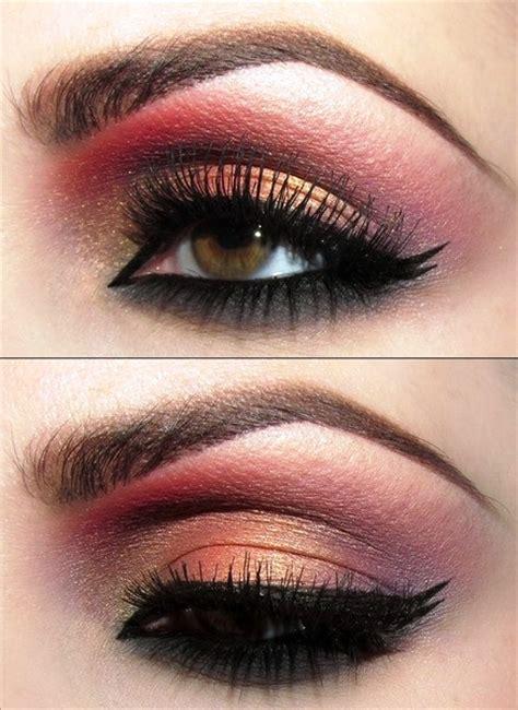 indian bridal inspired gold  red eye makeup