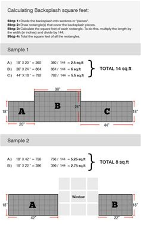 Countertop Sq Ft Calculator - how to measure a countertop how to figure square footage