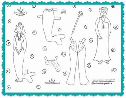 Mermaid Paper Printable Dolls Crafts Cut Doll