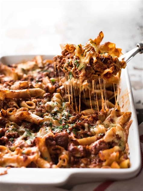 italian baked ziti with sausage recipetin eats