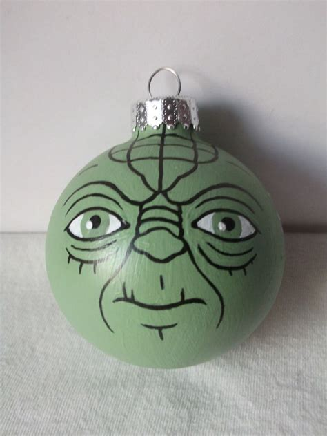 yoda star wars painted holiday christmas ornament