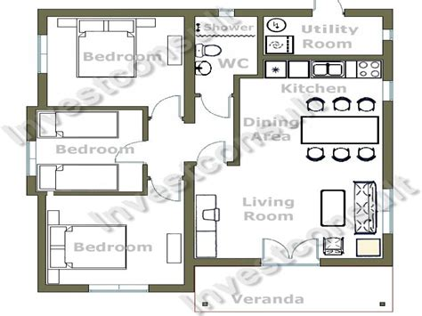 2 Bedroom House Layouts Small 3 Bedroom House Floor Plans