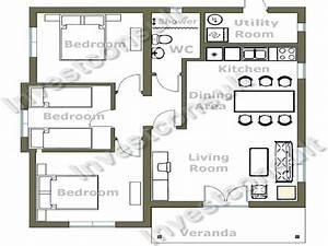 Small 3 Bedroom House Floor Plans Simple 4 Bedroom House ...
