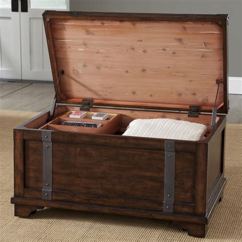 Large Bedroom Trunk by Aspen Skies Industrial Casual Storage Trunk With Removable