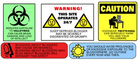 health warning labels  bloggers  twitter addicts
