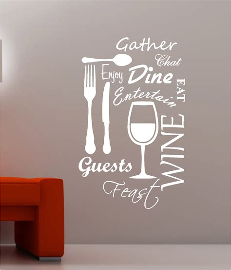 vinyl cuisine kitchen word cloud vinyl wall quote sticker dining