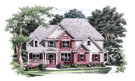 Colonial Style House Plan 4 Beds 3 5 Baths 2843 Sq/Ft