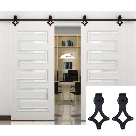 Closet Door Glides by Sliding Barn Door Hardware Track Kit Closet Wheel