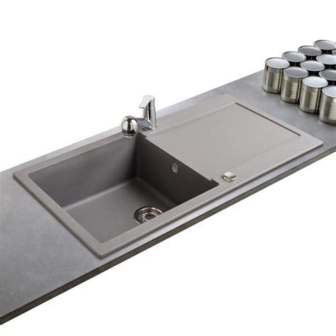 evier cuisine à poser sur meuble évier franke de la gamme maris en granit gris 1