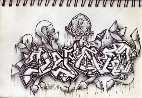 After mastering graffiti sketching you can move on to artistic spraying and street art. Graffiti Pencil Drawing at PaintingValley.com | Explore ...