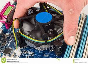 Cpu Cooler Installation Stock Photo  Image Of Power