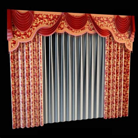 mounting board valance curtain  model dsmax files