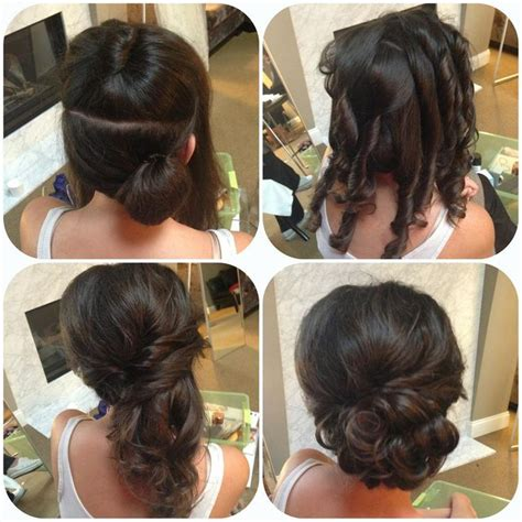 side updo how to curl so it layers the right direction half up half diy hair ideas