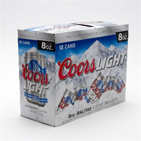 coors light 12 pack coors light 8oz 12 pack can beer wine and liquor