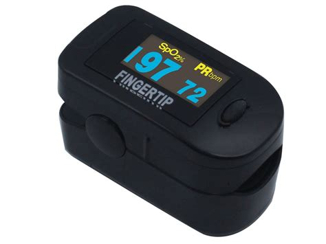 Concord Black Fingertip Pulse Oximeter Deluxe Pediatric