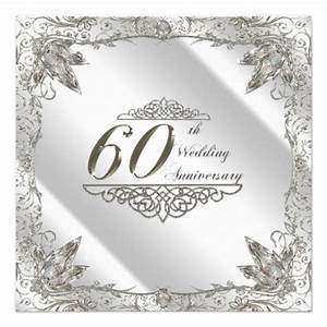 60th wedding anniversary invitation card diamond wedding With cheap 60th wedding anniversary invitations