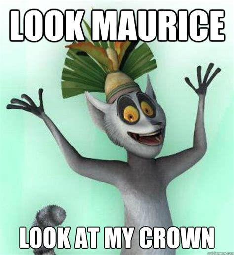 Crown Meme - wakey wakey mr alex rise and shining king julian quickmeme