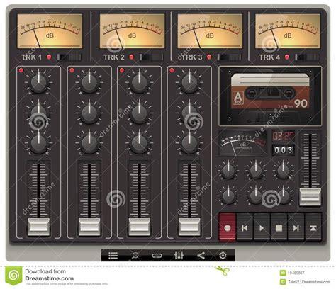 vector portable recording studio template  ico royalty