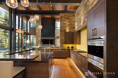 Contemporary Kitchen Interiors by Lake Tahoe Martis C Mountain Modern Interior Design