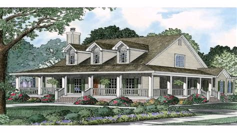 ranch style house  wrap  porch plans youtube