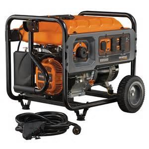 generac rapid start 5500 watt portable generator with