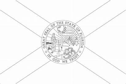 Florida Coloring Pages Flags Flag State Printable