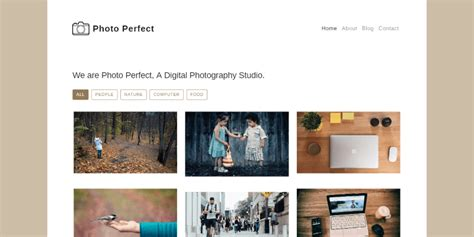 Bootstrap Gallery Template Free Photo Gallery Template Built With Bootstrap 4