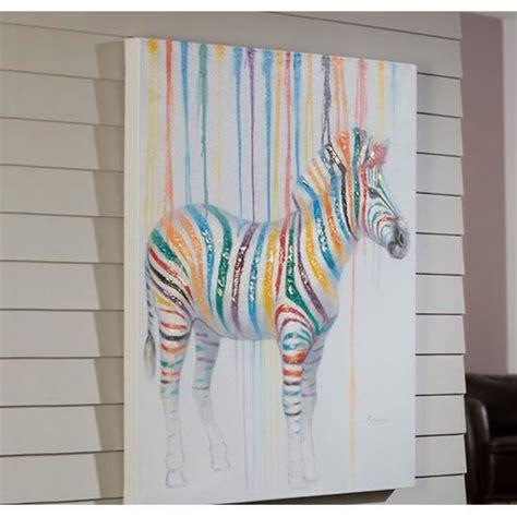 peinture a l acrylique sur toile peinture sur toile zebre 100x80 cm achat vente tableau toile toile acrylique bois