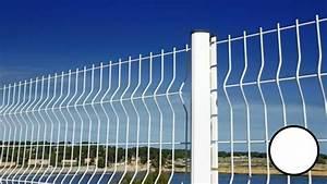 Panneau De Grillage Rigide : panneau grillage rigide blanc cl ture rigide en panneaux ~ Dailycaller-alerts.com Idées de Décoration