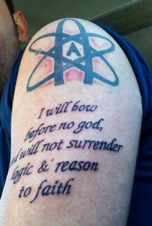 atheist tattoo ideas  pinterest evolution