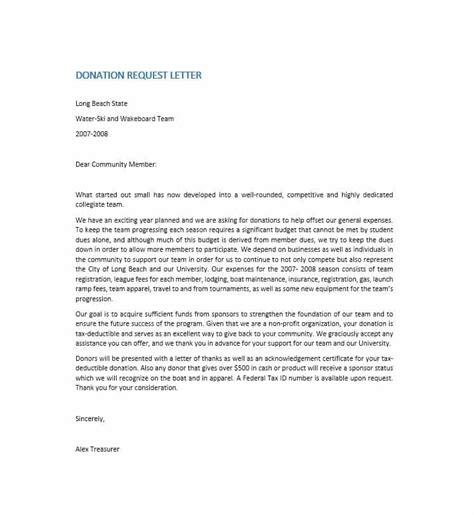 Donation Letter Template 43 Free Donation Request Letters Forms Template Lab