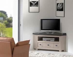 Meuble D Angle Pour Tv : meuble tv d 39 angle whitney meubles gibaud ~ Teatrodelosmanantiales.com Idées de Décoration