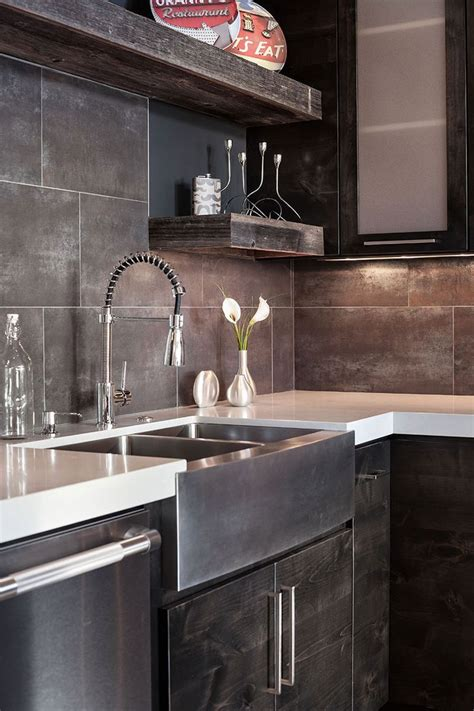 rustic contemporary kitchen best 25 modern rustic kitchens ideas only on 2042