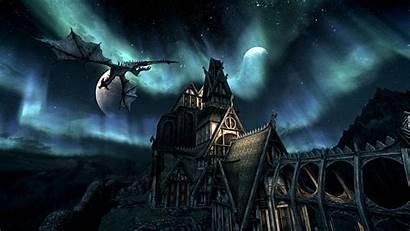 Skyrim Elder Dragon Wallpapers Scrolls Reach Castle
