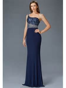 navy blue one shoulder long dress oasis amor fashion