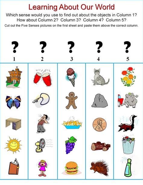 senses preschool activities activities for 5 senses learning printable 5