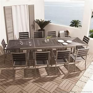 Salon De Jardin Aluminium 10 Personnes : table jardin personnes ~ Dailycaller-alerts.com Idées de Décoration
