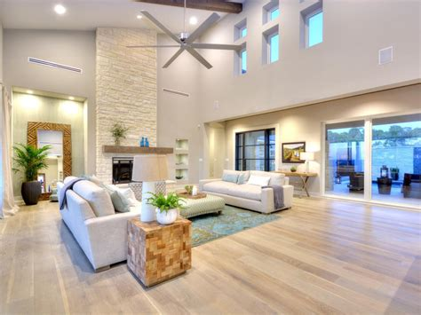 Living Room Ideas With Light Floors by Open Contemporary Living Room With Light Hardwood Floors
