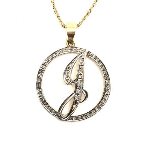 Diamond Initial J Pendant | Ryu's Jewelry