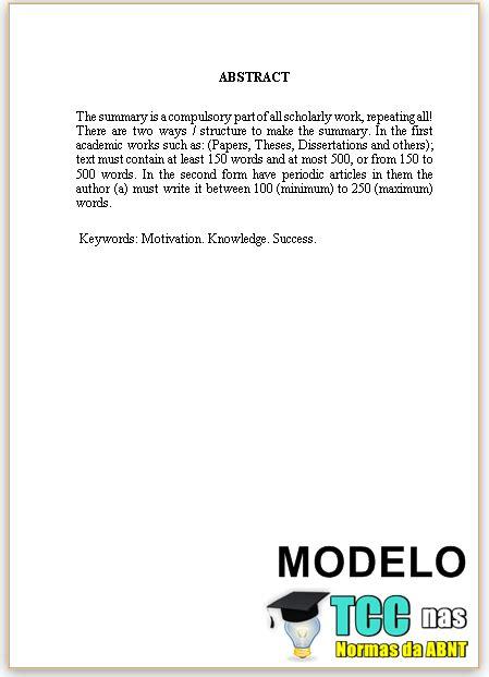 modelo de artigo em word nas normas da abnt 2016 como como fazer abstract abnt para tcc artigos monografias