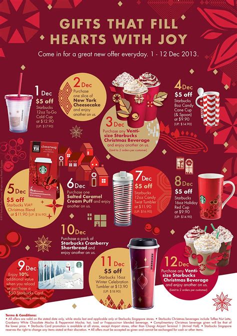 starbucks christmas  days  gifting everyday offers