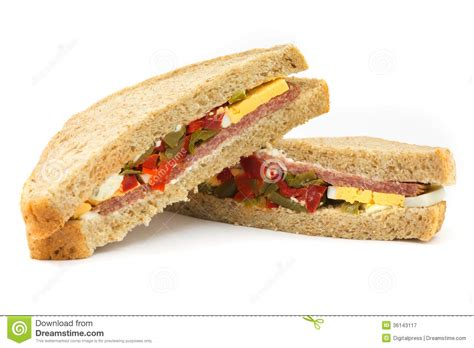 Sandwich Stock Image Image Of Sausage, Bread, Close