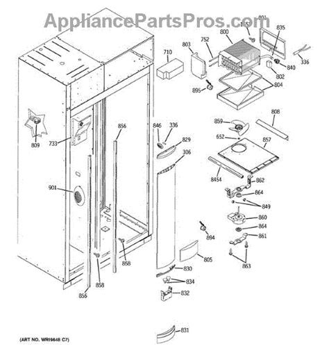 parts  ge zissdrkss freezer section parts appliancepartsproscom