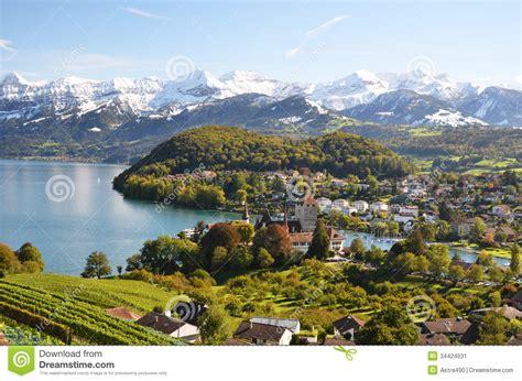 Spiez Switzerland Stock Image Image 34424531
