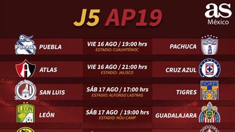 Fechas y horarios de la jornada 5 del Apertura 2019 de la ...