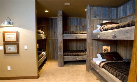 cabin bunk room ideas bunk rooms designs  adults